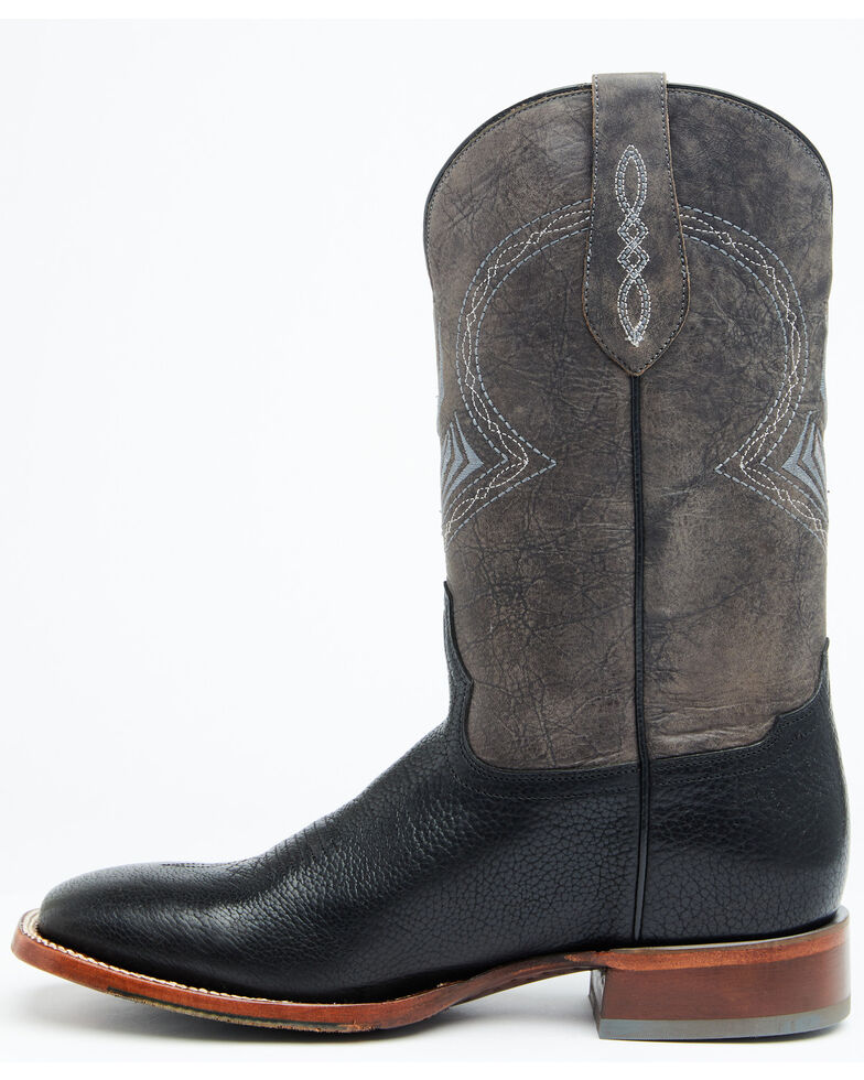 Cody James Men's Grey Western Boots - Wide Square Toe, Black, hi-res