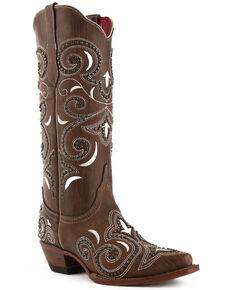 Ferrini Women's Storm Western Boots - Snip Toe, Brown, hi-res