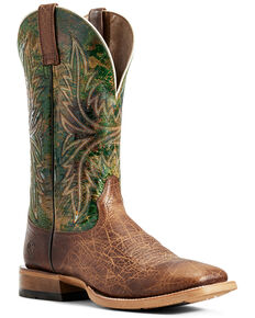 Ariat Men's Tobacco Cowhand Western Boots - Wide Square Toe, Brown, hi-res