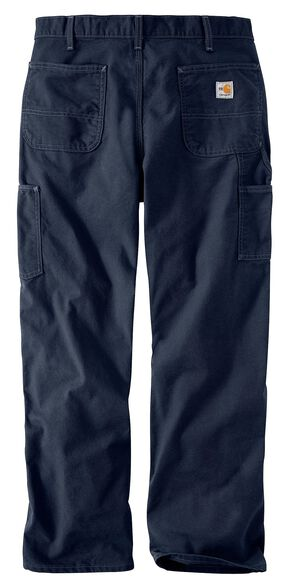Carhartt Flame Resistant Washed Duck Work Pants - Big & Tall, Navy, hi-res
