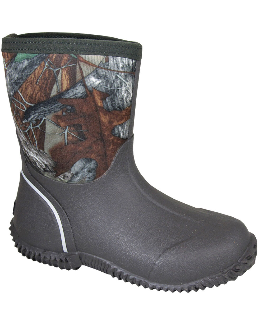 Smoky Mountain Toddler Boys' Amphibian Camo Waterproof Boots, Brown, hi-res