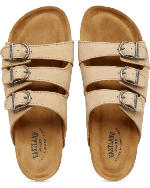 Eastland Women's Sand Faye Strap and Buckle Sandals , Sand, hi-res