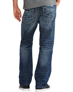 Silver Jeans Men's Zac Relaxed Fit Straight Leg Jeans, Indigo, hi-res