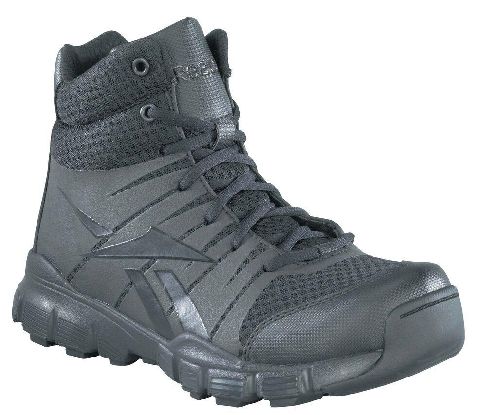Reebok Men's Dauntless Tactical Side-Zip Work Boots, Black, hi-res