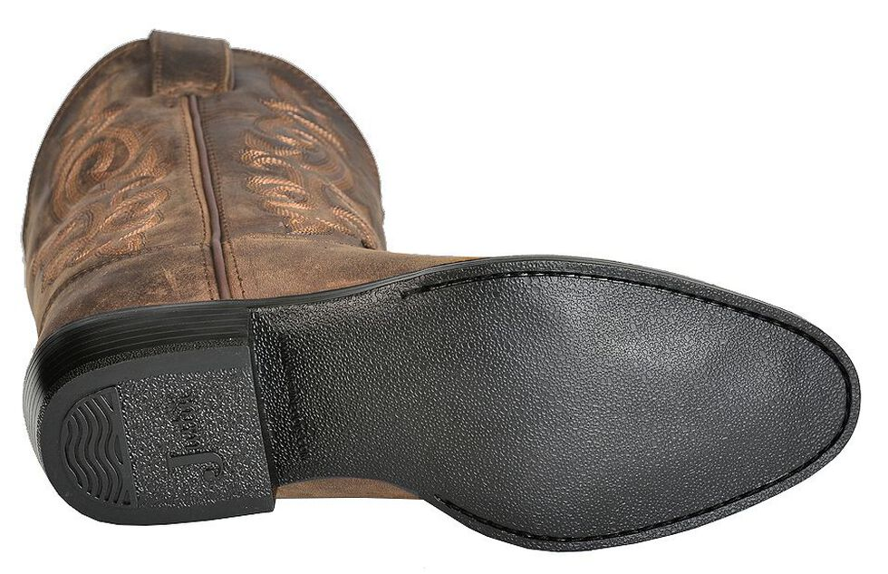 Justin Youth Boys' Basic Western Cowboy Boots - Round Toe, , hi-res