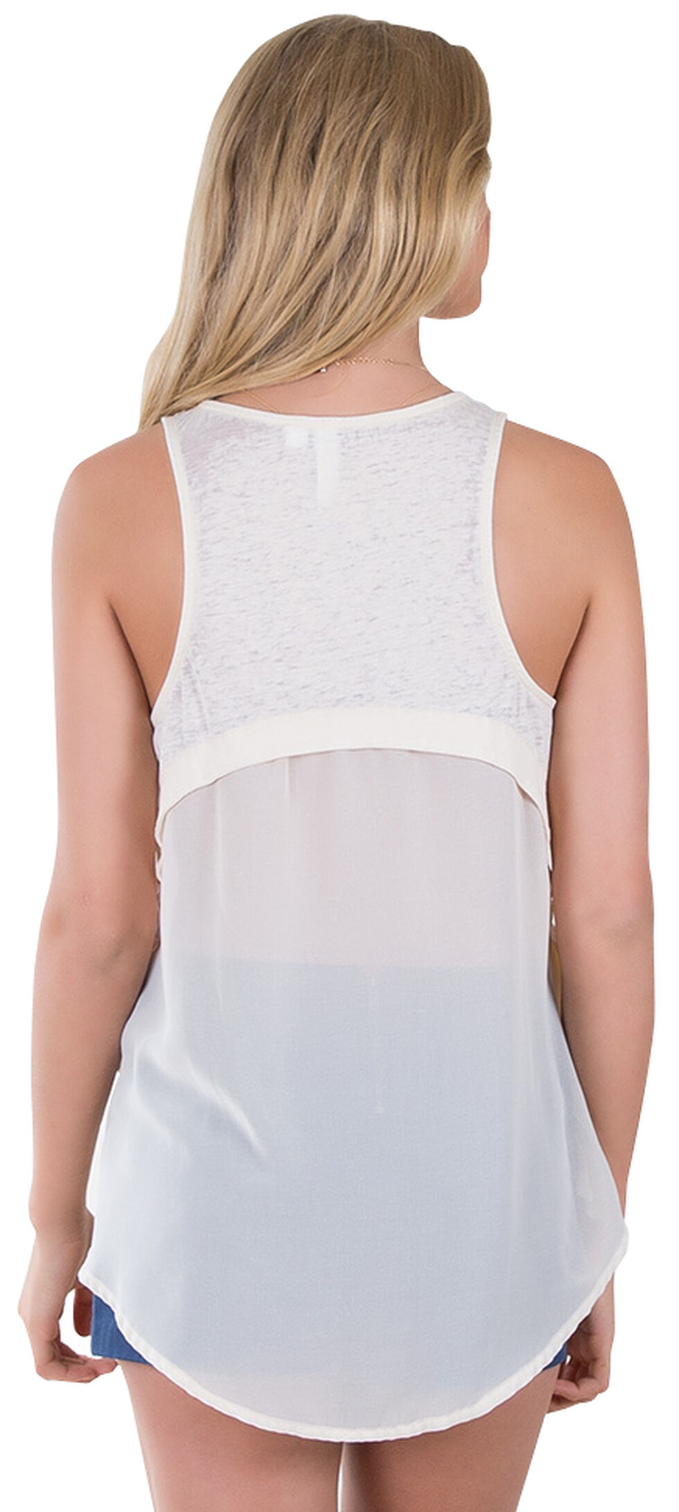 Others Follow Women's Be Mine Heart Cream Tank Top , Sand, hi-res