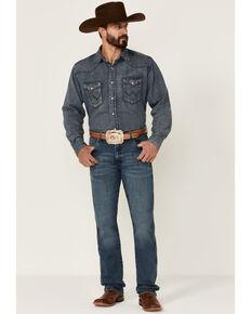 Wrangler Retro Men's Hereford Medium Wash Stretch Slim Straight Jeans , Blue, hi-res