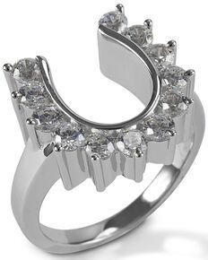 Kelly Herd Women's Outside Set Horseshoe Ring , Silver, hi-res