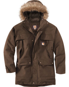 Carhartt Men's Quick Duck Sawtooth Parka , Dark Brown, hi-res