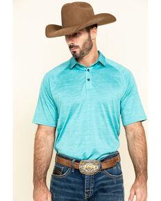 Ariat Men's Blue Charger Short Sleeve Polo Shirt , Blue, hi-res