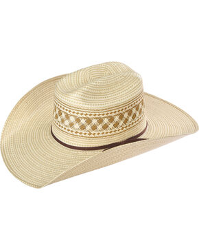 Resistol Men's Tenino Promo Straw Hat , Chocolate, hi-res