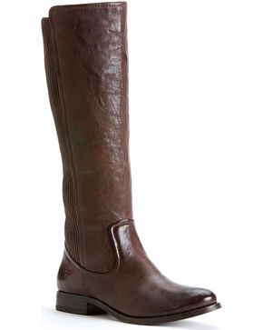 Frye Women's Melissa Scrunch Riding Boots, Dark Brown, hi-res