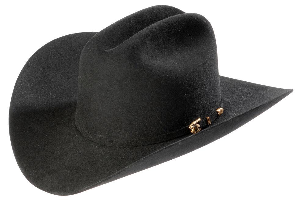 Larry Mahan 8X Los Tigres Del Norte Black Cowboy Hat , Black, hi-res