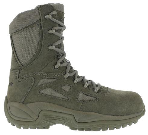 "Reebok Men's Stealth 8"" Lace-Up Side-Zip Work Boots - Composite Toe, Sage, hi-res"