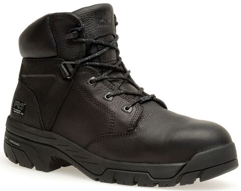 "Timberland Pro Helix Waterproof 6"" Lace-Up Work Boots - Composition Toe, Black, hi-res"