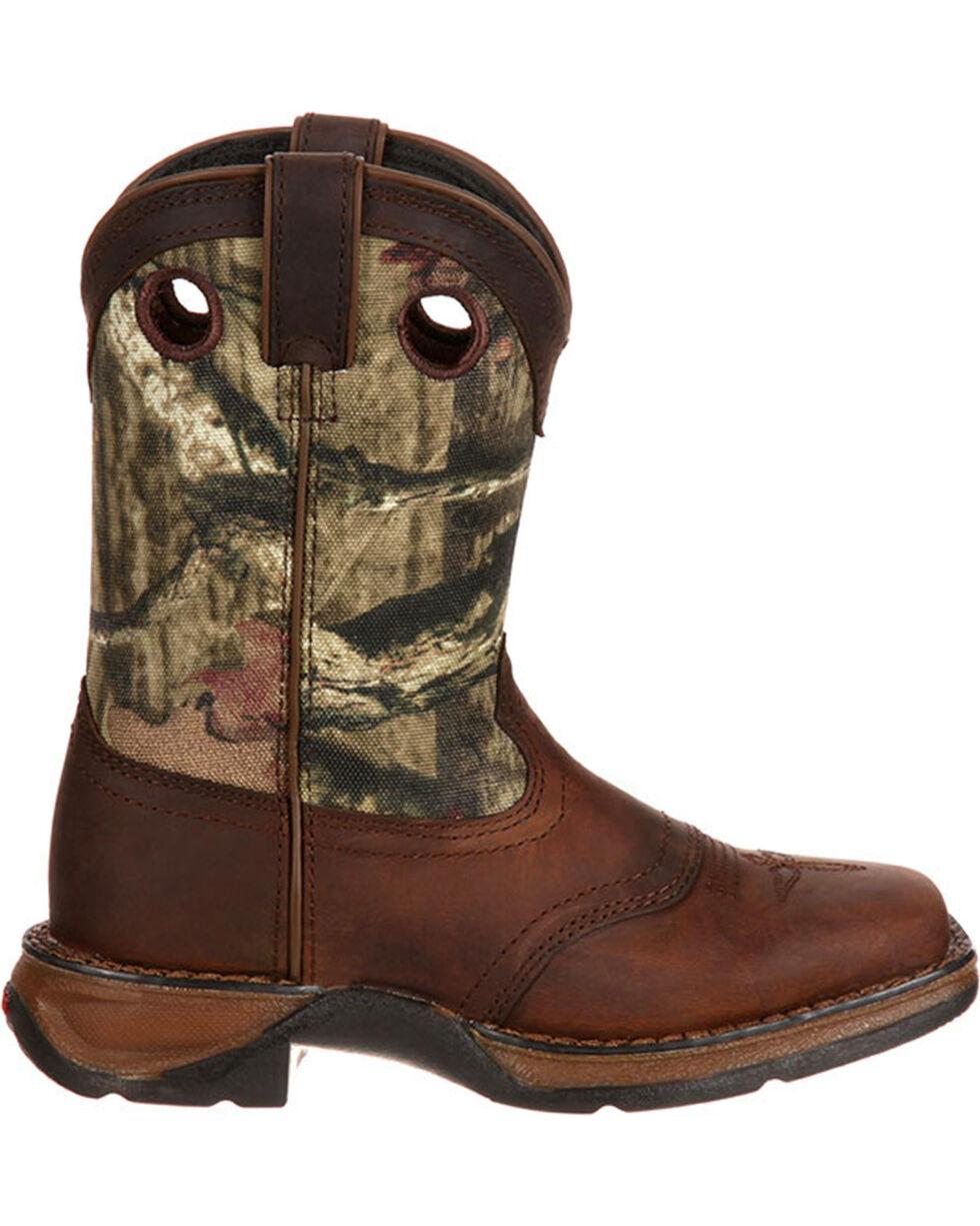Lil' Durango Boys' Camo Saddle Western Boots - Square Toe , Camouflage, hi-res