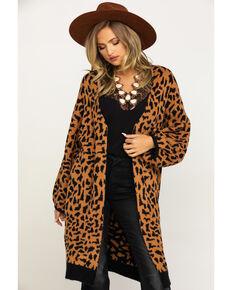 Angie Women's Leopard Sweater, Leopard, hi-res