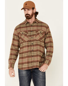 Pendleton Men's Tan Burnside Plaid Long Sleeve Western Flannel Shirt , Tan, hi-res