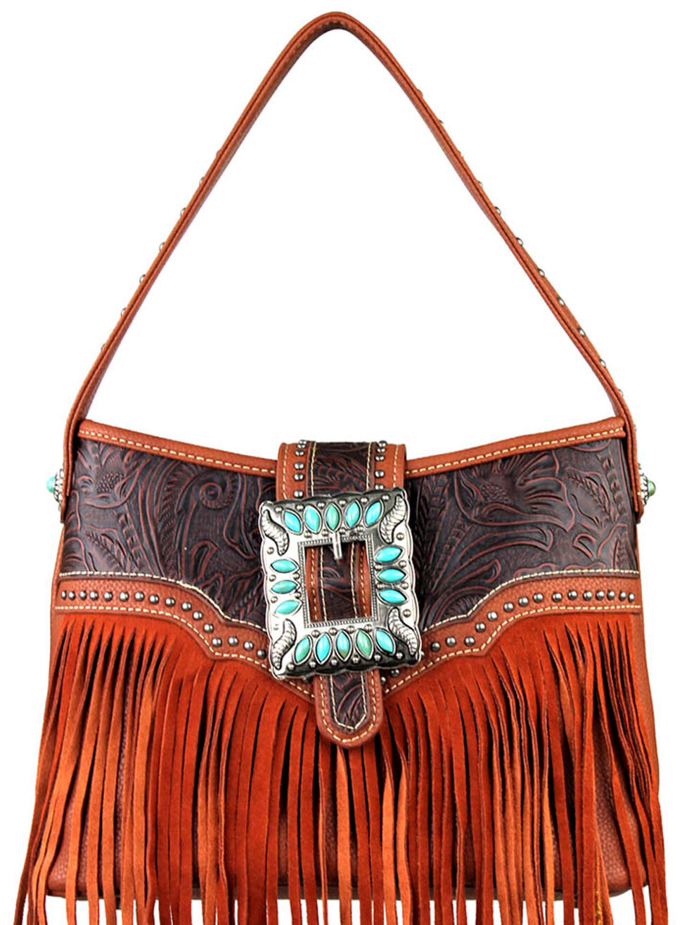 Montana West Trinity Ranch Concealed Handgun Fringe Design Handbag, , hi-res