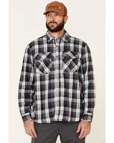 ATG™ by Wrangler Men's All Terrain Cabernet Plaid Long Sleeve Western Flannel Shirt , Red, hi-res