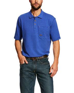 Ariat Men's Royal Rebar Work Polo Shirt - Tall , Blue, hi-res