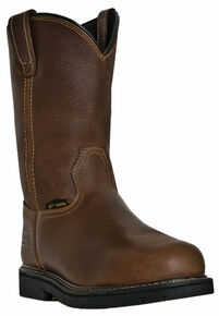 McRae Men's Pull-On Internal Met Guard Work Boots - Steel Toe, Brown, hi-res