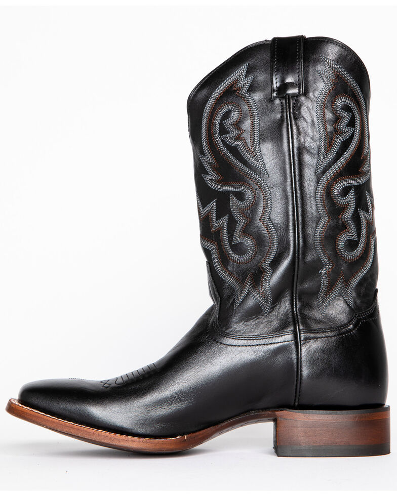 Cody James Men's Black Stockman Cowboy Boots - Square Toe, Black, hi-res