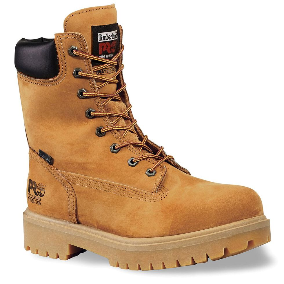 "Timberland Pro Men's 8"" Insulated Waterproof Work Boots, Tan, hi-res"