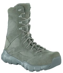 """Reebok Men's Dauntless 8"""" Lace-Up with Side Zip Work Boots - Composition Toe, Sage, hi-res"""