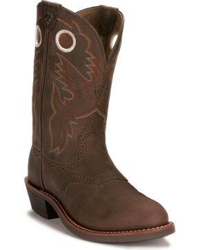 Ariat Heritage Rough Stock Boots, Antique Brown, hi-res