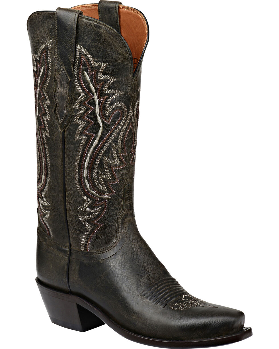 Lucchese Handmade 1883 Women's Cassidy Cowgirl Boots - Snip Toe, Brown, hi-res