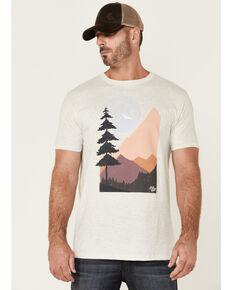 Moonshine Spirit Men's Cream Moon Forest Graphic Short Sleeve T-Shirt  , Cream, hi-res