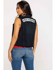 Idyllwind Women's Black Free To Roam Denim Vest, Black, hi-res