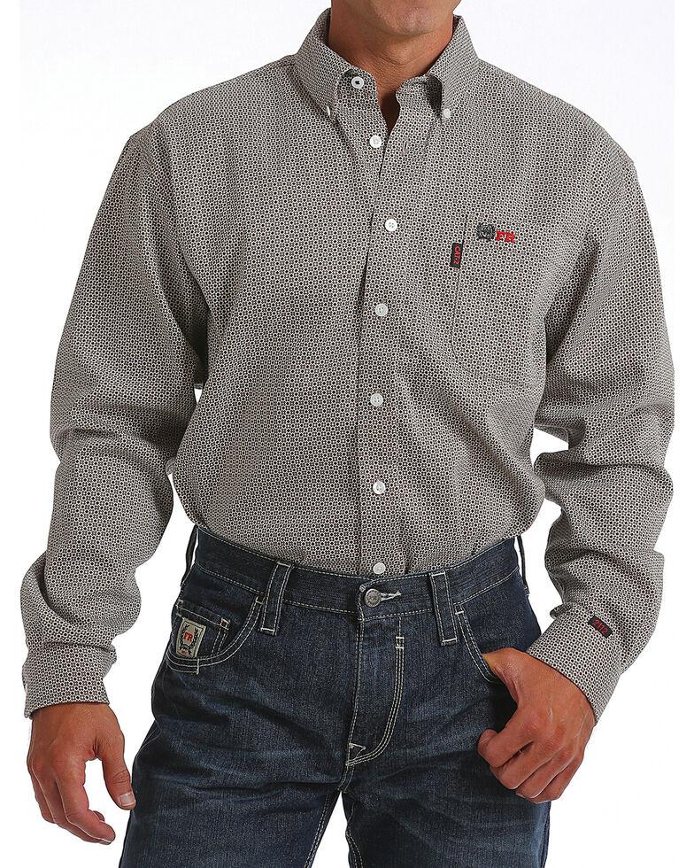 Cinch Men's FR WRX Long Sleeve Work Shirt , Tan, hi-res