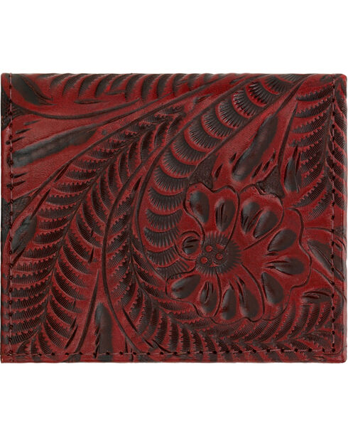 American West Boyfriend Ladies Crimson Bi-Fold Wallet, Crimson, hi-res