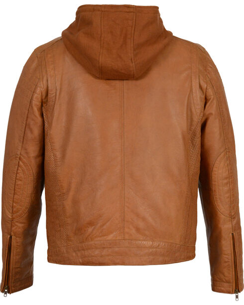 Milwaukee Leather Men's Zipper Front Leather Jacket w/ Removable Hood - Big - 4X, , hi-res