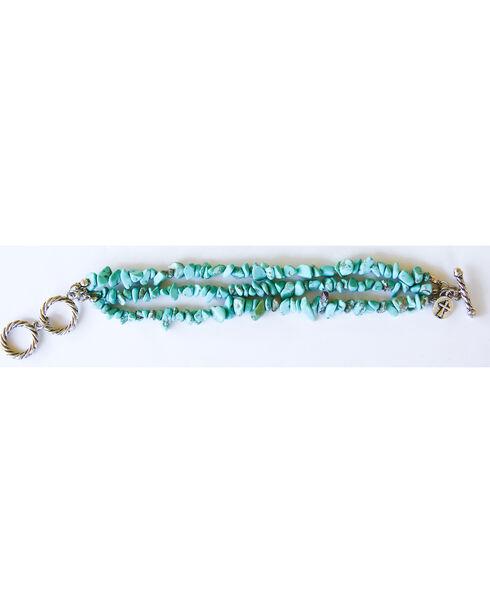 West & Co. Women's 3 Strand Turquoise Stone Bracelet, Turquoise, hi-res