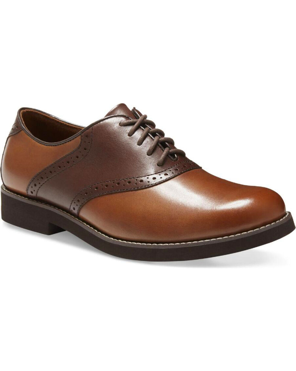 Eastland Men's Saddleback Buck Saddle Shoes - Round Toe, Tan, hi-res