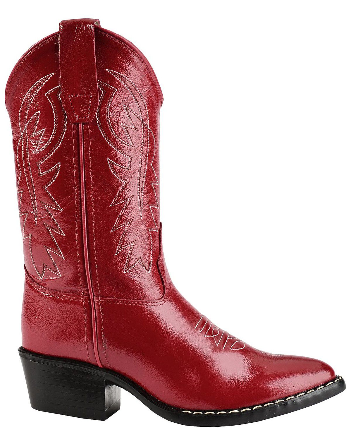 Old West Girls' Red Leather Cowgirl