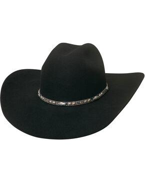 Bullhide Men's 4X Big Augur Wool Felt Cowboy Hat , Black, hi-res