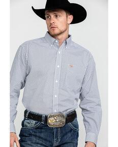 Ariat Men's Wrinkle Free Vaness Geo Print Long Sleeve Western Shirt - Big, White, hi-res
