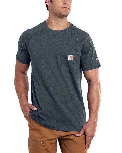 Carhartt Force Cotton Short Sleeve Work Shirt - Big & Tall, Slate, hi-res