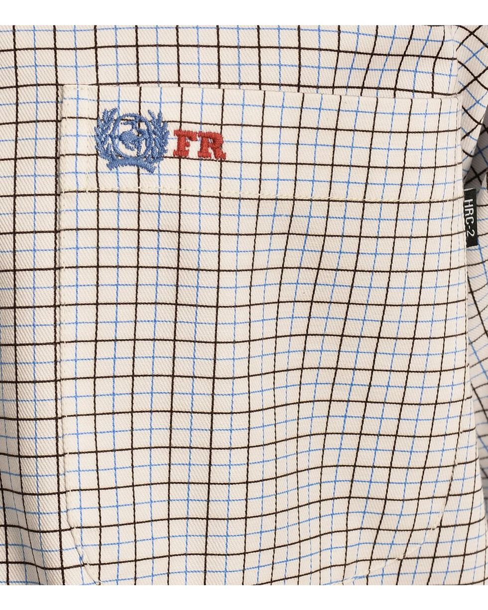 Cinch ® Flame Resistant Plaid Work Shirt, White, hi-res