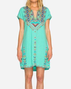 Johnny Was Women's Velsia Easy Tunic Dress, Green, hi-res