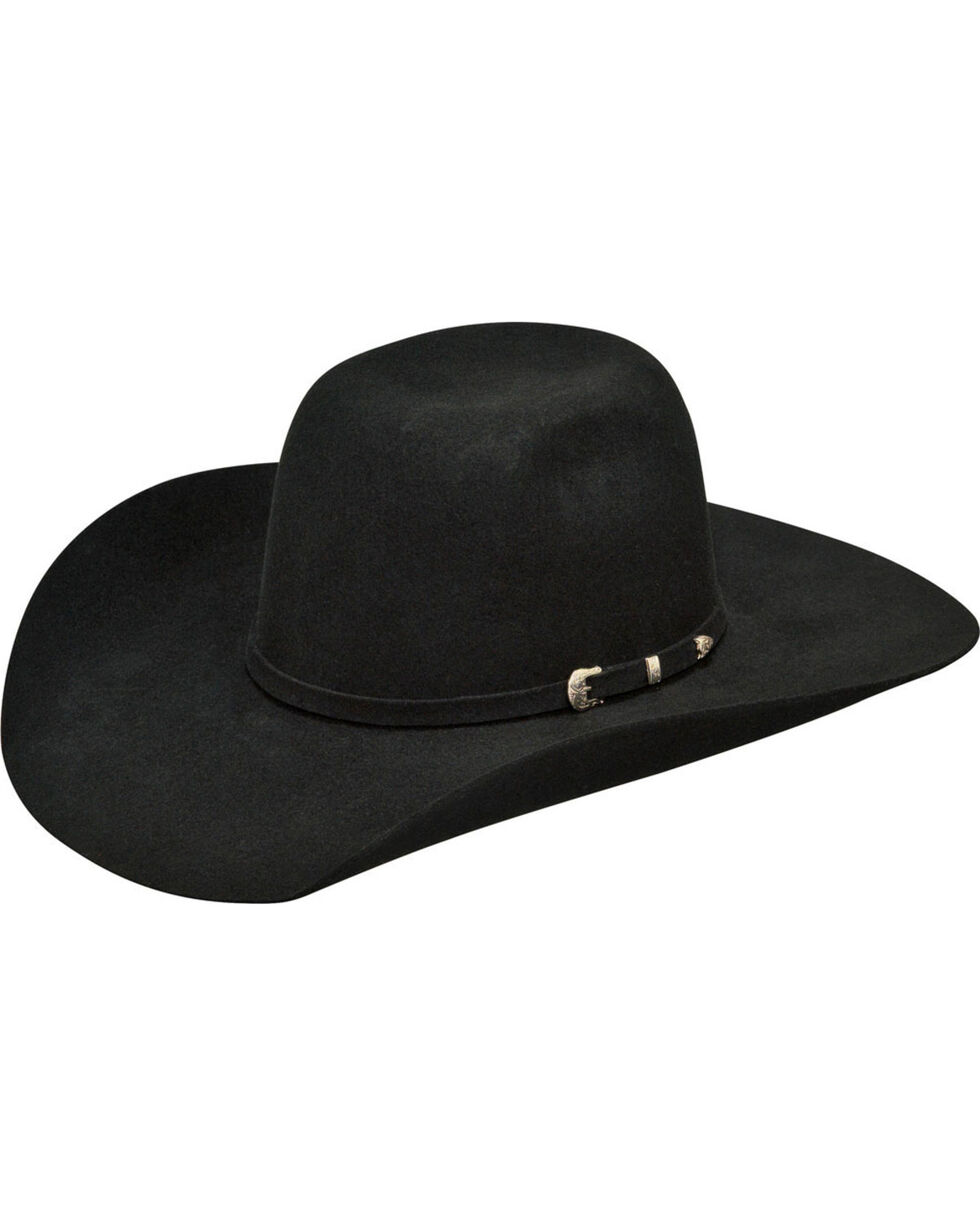 Ariat Boys' Wool High Crown Cowboy Hat , Black, hi-res