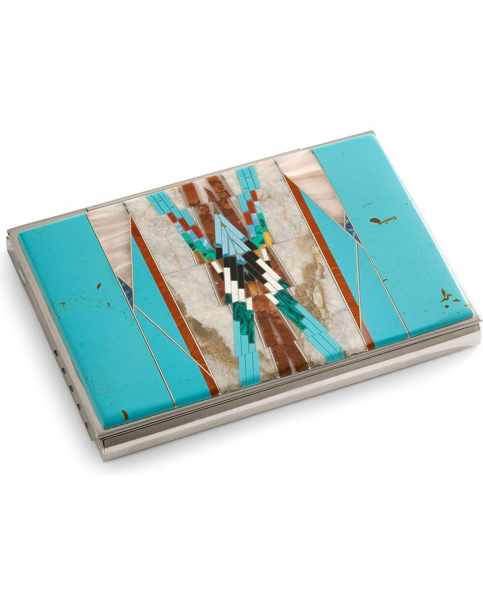 M&S Turquoise Southwest Turquoise Business Card Holder, Turquoise, hi-res