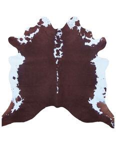 Carroll Co. Brown/White Genuine Cowhide Rug, Brown, hi-res