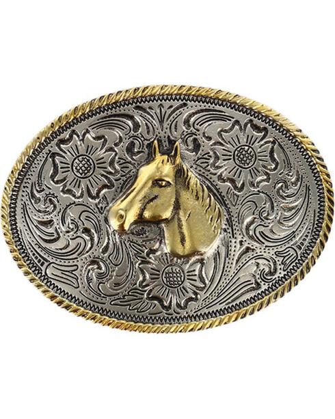 Cody James® Kid's Dual-Tone Horse Buckle, Multi, hi-res