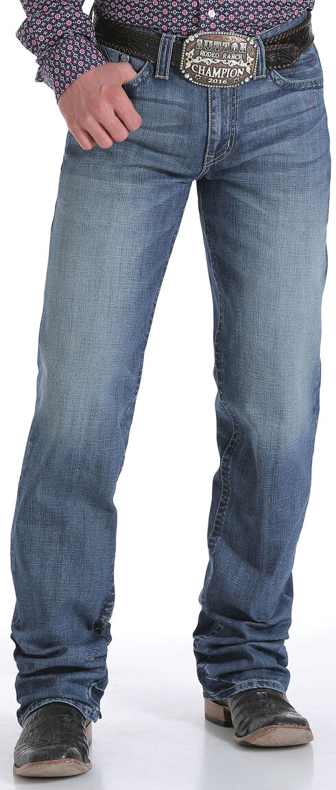 Cinch Men's Indigo Grant Mid-Rise Relaxed Performance Jeans - Boot Cut, Indigo, hi-res