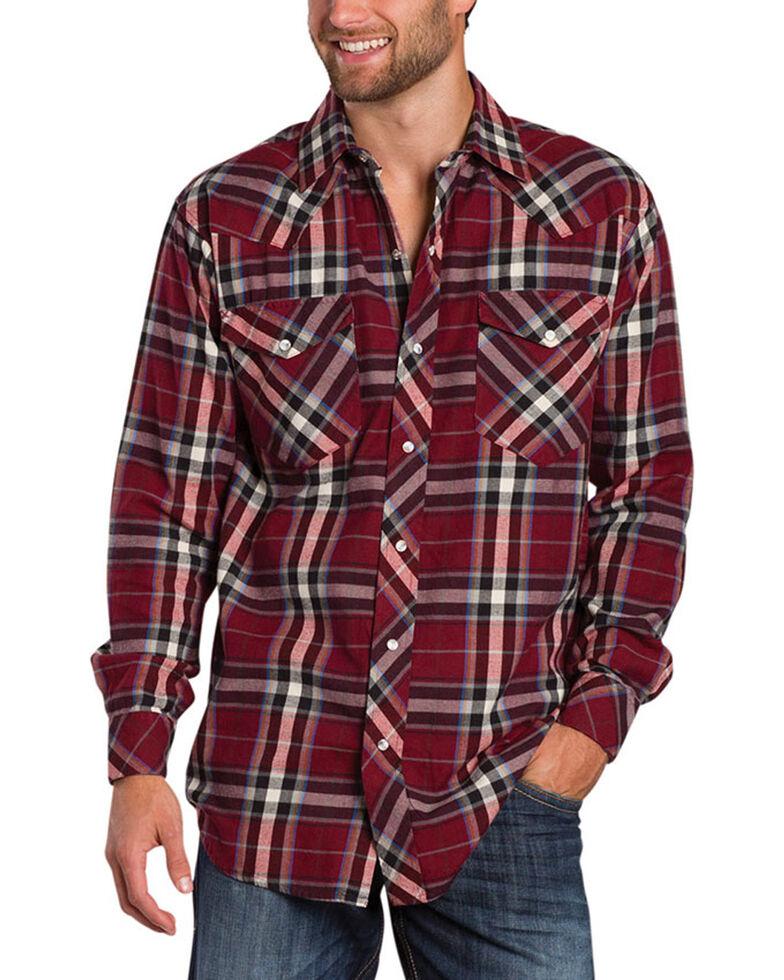 c9a306b4 Zoomed Image Resistol Men's Double R Gillete Plaid Long Sleeve Shirt, Dark  Red, hi-res